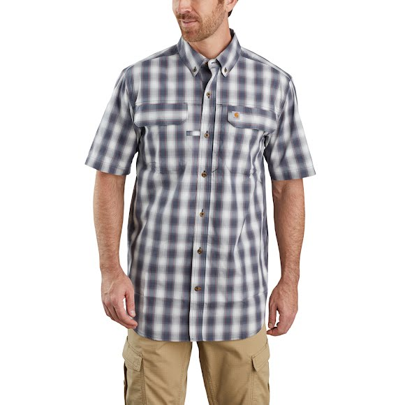 Carhartt Men's Force Relaxed Fit Lightweight Short-Sleeve Button-Front Plaid Shirt Image