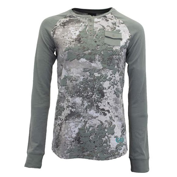 Girls With Guns Women's Apricity CVC Henley Long Sleeve Image