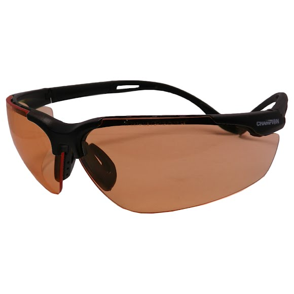 Champion Curved Adjustable Open Frame Ballistic Shooting Glasses Image