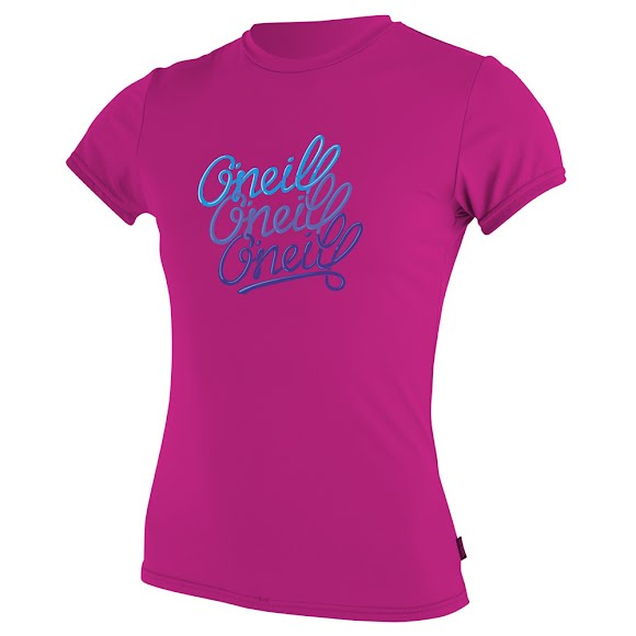 Oneill Girls Youth Skins S/S Tee Rashguard Image