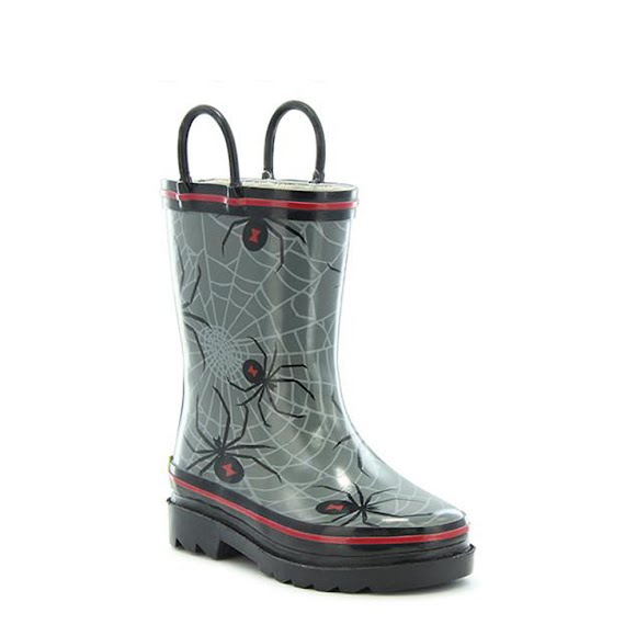 Western Chief Youth Spider Web Crawl Rain Boots Image