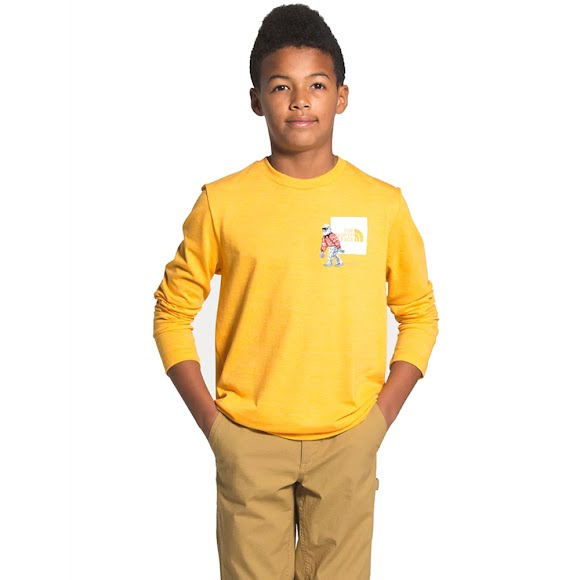 The North Face Youth L/S Tri-Blend Tee Image
