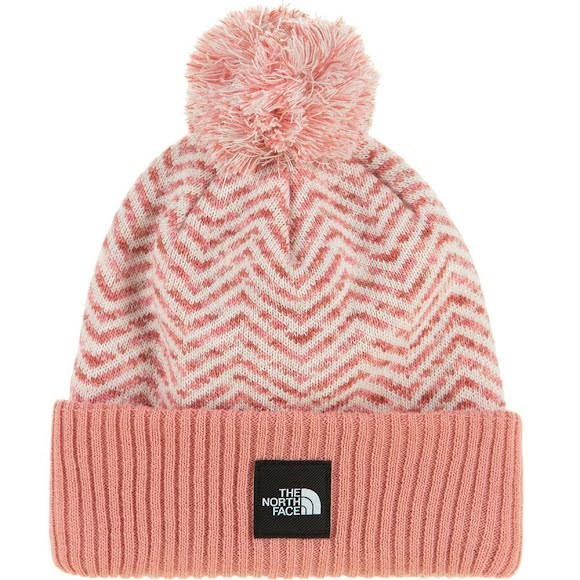 The North Face Girls Chevron Pom Beanie Image