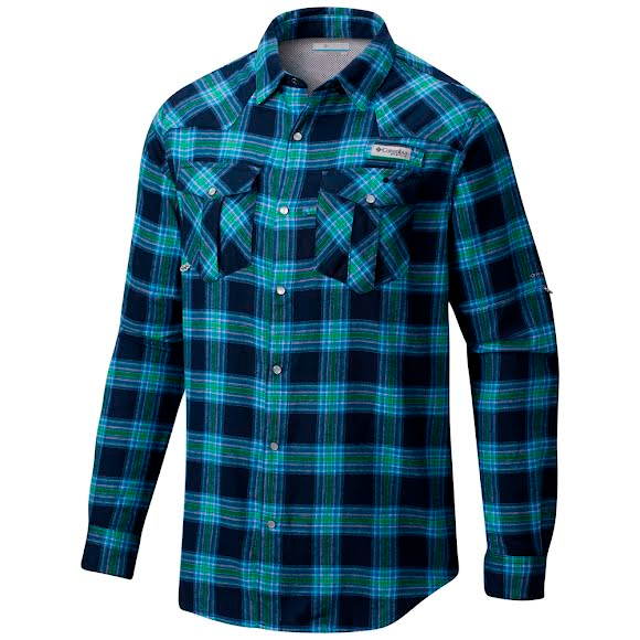 Columbia Men's PFG Beadhead Flannel Long Sleeve Shirt Image