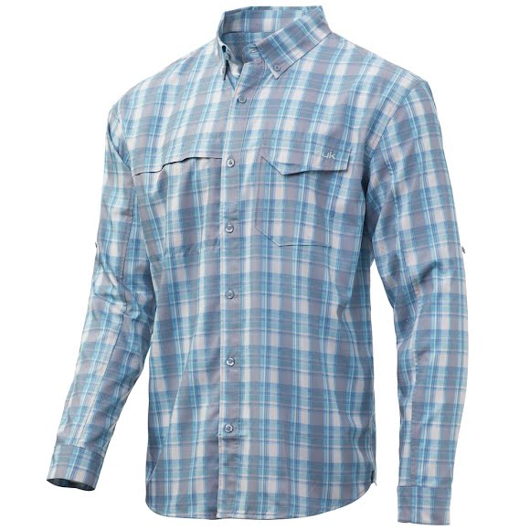 Huk Men's Tide Point Plaid Long Sleeve Shirt Image