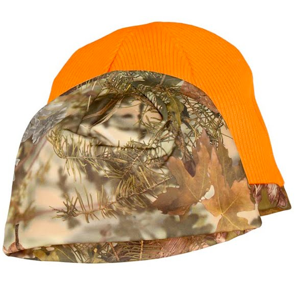 King's Camo Camo/Blaze Reversible Beanie in Mountain Shadow Image