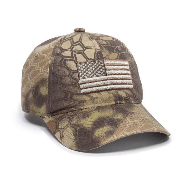 Outdoor Cap Men's Camo Flag Cap Image
