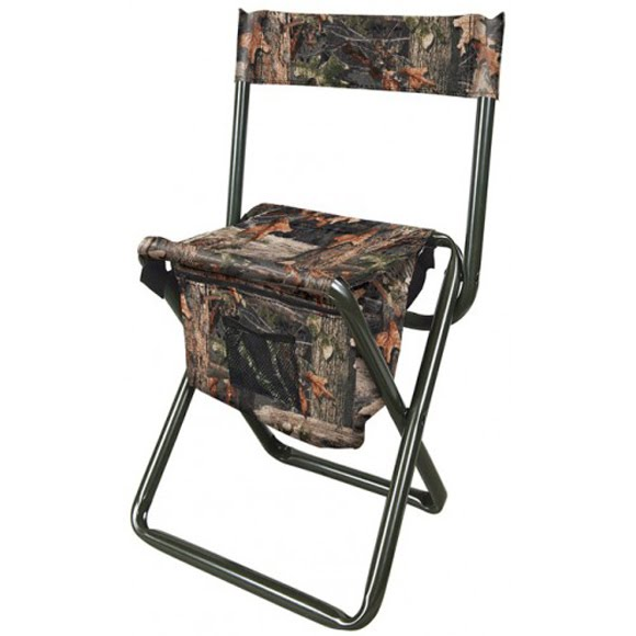 The Allen Co Camo Folding Stool with Back Rest Image