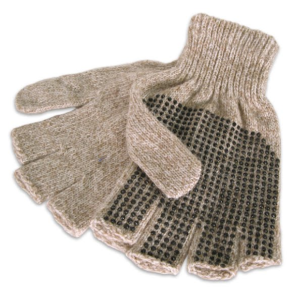 Grand Sierra Mens Ragg Wool Fingerless Gloves Image