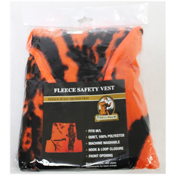 Breaux Fleece Blaze Orange Safety Vest Image