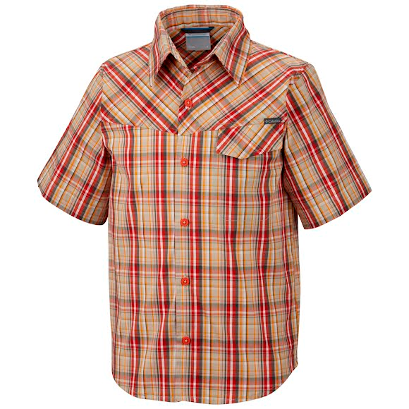 Columbia Boys Youth Silver Ridge II Plaid S/S Shirt Image
