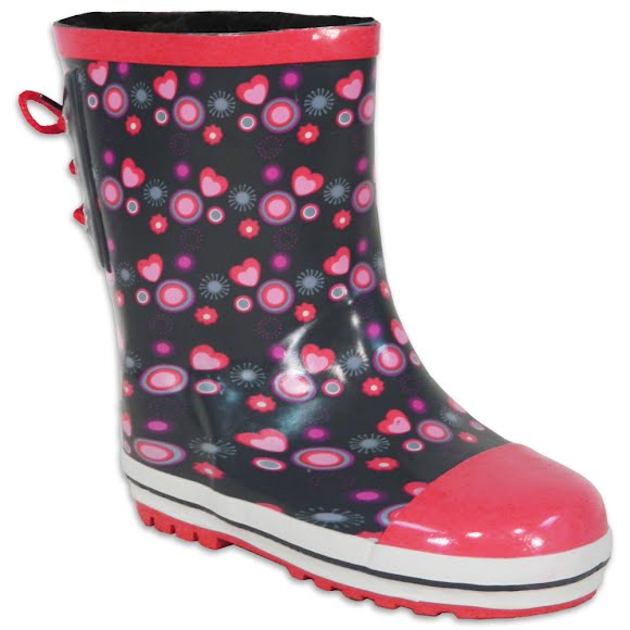 Forever Young Girls Preschool Lined Rain Boots Image