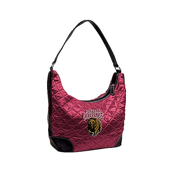 Littlearth University of Montana Grizzlies Quilted Hobo Purse Image