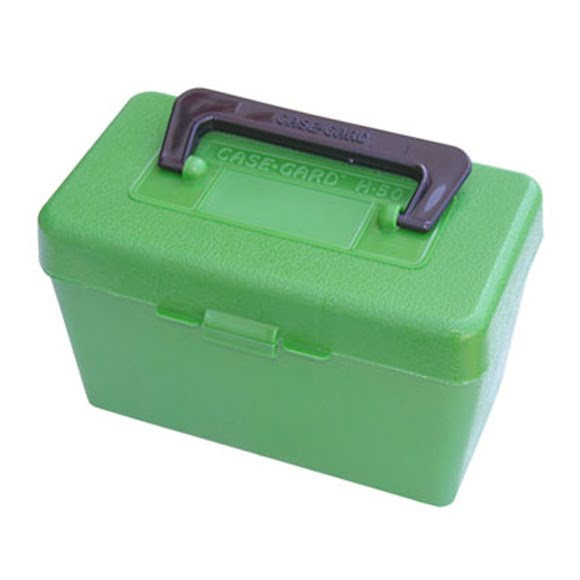 Mtm Case-gard Deluxe 50 Round Flip Top Rifle Ammo Box Image