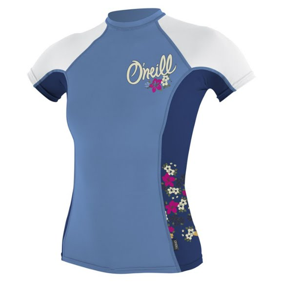 Oneill Girls Youth Colorblock S/S Rashguard Crew Image
