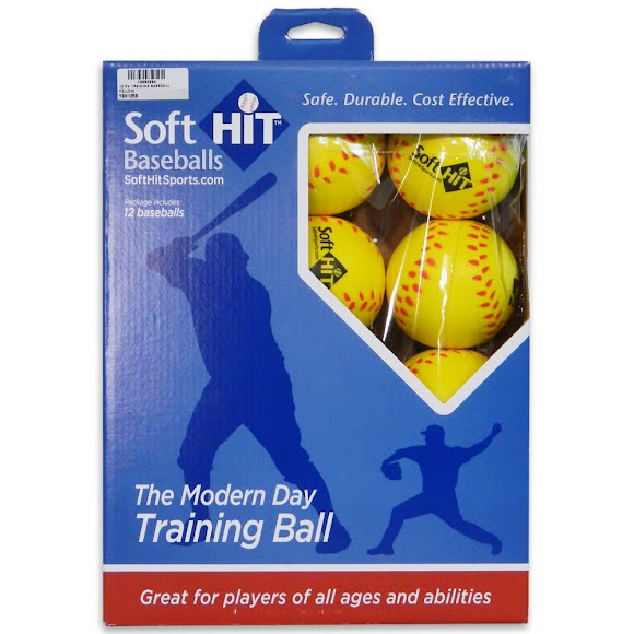 Soft Hit Yellow Practice Baseballs (12 Pack) Image