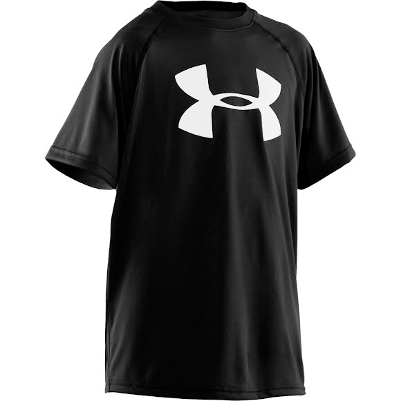 Under Armour Boy's Youth Big Logo Tech Short Sleeve Tee Image