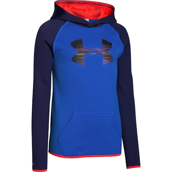 Under Armour Girl's Youth Amour Fleece Big Logo Hoodie Image