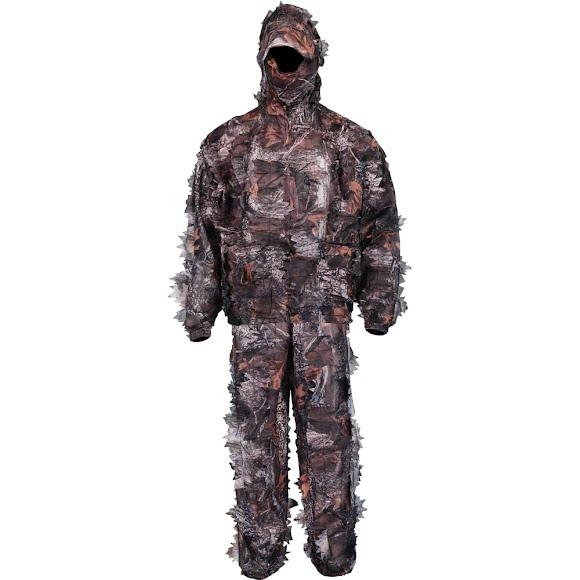 World Famous Men's 2-Piece Camo Leafy Suit with Mask Image