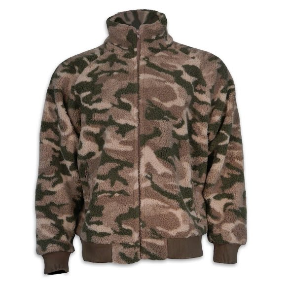 World Famous Mens Berber Camo Jacket
